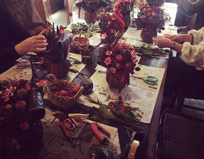 花と食のワークショップ